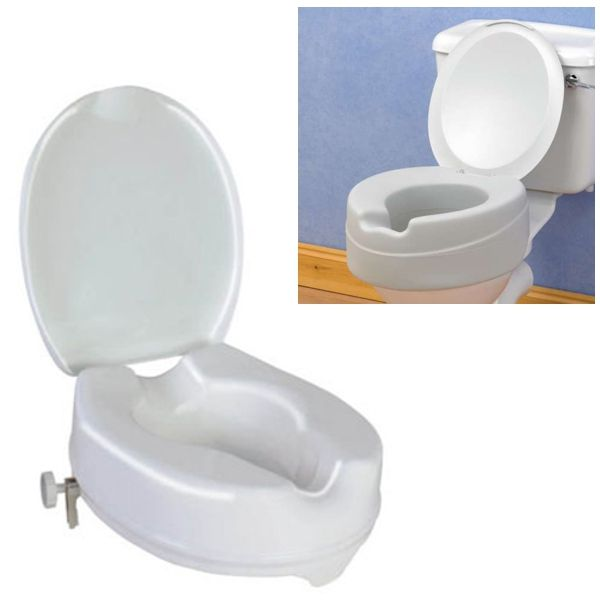 Raised Toilet Seat With Lid Omnisurge Medical Supplies