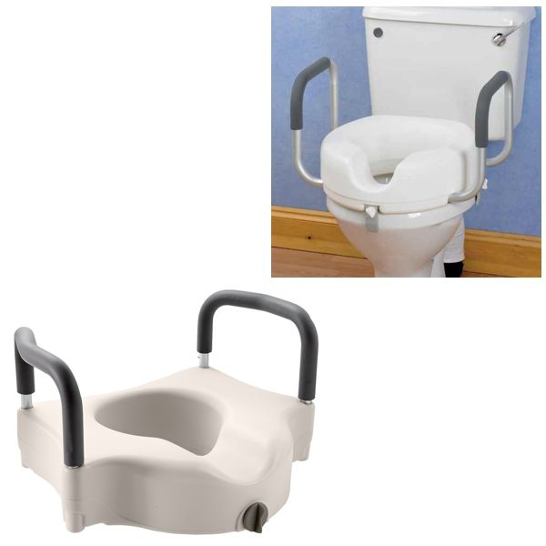 Raised Toilet Seat With Handles Omnisurge Medical Supplies