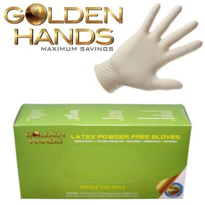 Powder-Free Textured Latex Exam Gloves