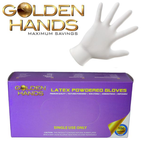 Powdered Smooth Latex Exam Gloves