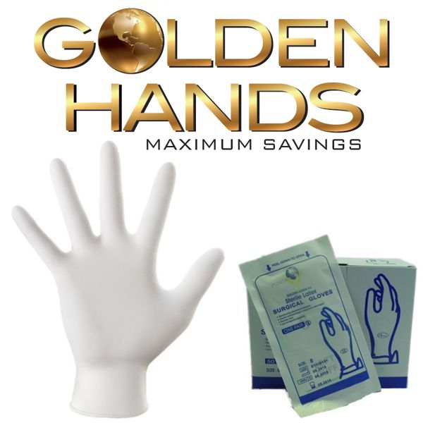 Surgical Sterile Powdered Latex Gloves