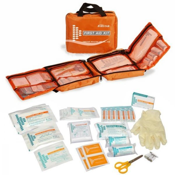 First Aid Bag,orange 8 - 12 Person
