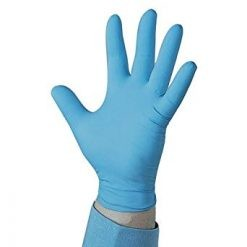 Powder free nitrile gloves blue