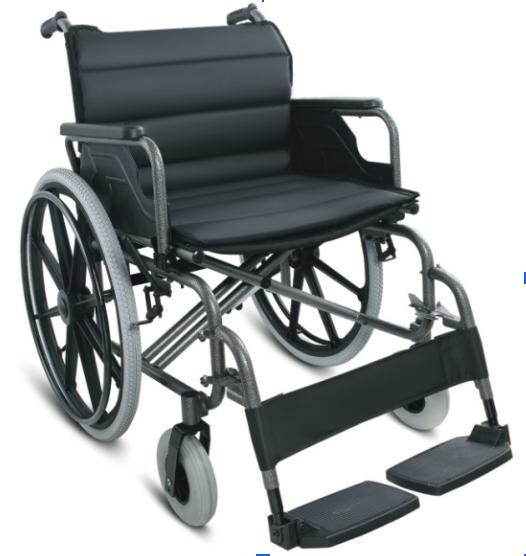 FS951B-56 Wheelchair Steel Flip Arm Detach Foot 56cm/XHD 125kg